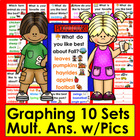 Graphing Cards for Pocket Chart Set 2- Ten Questions and R