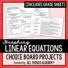 Graphing Linear Equations - Choice Board Projects