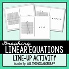 Graphing Linear Equations Line-Up Dominoes Activity