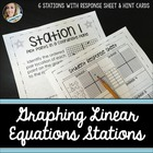 Graphing Linear Equations Stations