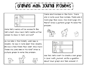 Graphing Math Journal Problems