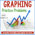 Graphing Practice Problems  - Set of 3 Problems - with questions