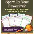 Graphing - Summer Sports Tally and Graph - 8 pages - FREEBIE