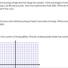 Graphing Systems of Inequalities from a Word Problem Worksheet