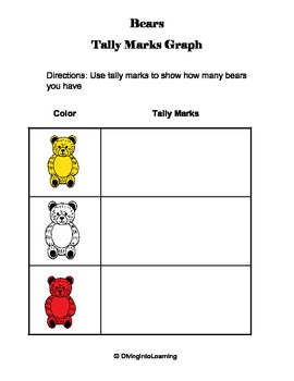 Graphing Using Tally Marks: Counting Bear Theme