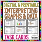 Graphing and Data Task Cards { Interpret Graphs &amp; Data }