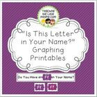 """""""Graphing the Letters in Your Name"""" Printables for Kinderg"""