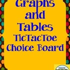 Graphs and Tables TicTacToe Extension Activities