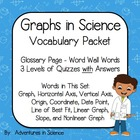 Graphs in Science Vocabulary Packet