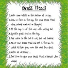 Grass Head Directions and Observation Sheet