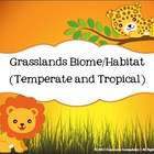 Grasslands Biome Habitat Science Pack (Worksheets, Vocabul