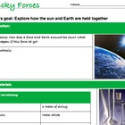 Gravity Sun Earth orbit lab hypothesis Powerpoint Jr. High