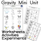 Gravity Worksheets Kindergarten