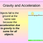 Gravity and Motion Power Point Presentation