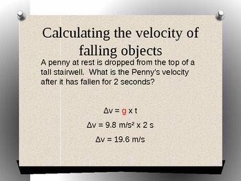 Gravity and motion (acceleration) presentation