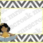 Labels: Gray and Yellow Chevron, 10 per page