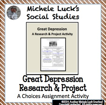 Great Depression Task Rotation Assessments Homework Assignments