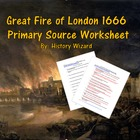 Great Fire of London Worksheet and United Kingdom Mapping