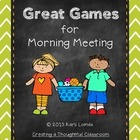 Great Games for Morning Meeting