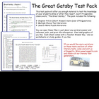 Great Gatsby Test Pack