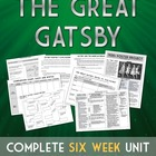 The Great Gatsby Handouts, Unit Plan, Lessons, and More!
