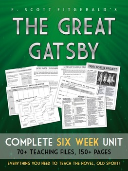 Great Gatsby unit plan w/ LOTS of resources