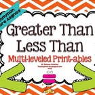 Greater Than Less Than Multi-leveled Printables:Common Cor