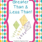 Greater Than and Less Than Spring Freebie