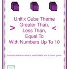 Greater Than/Less Than/Equal To: Numbers 1-10: Unifix Cube Theme