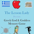 Greek God and Goddess Memory Game