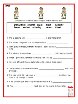 Greek & Latin Roots Prefix & Suffix Vocabulary Program (Ap