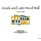 Greek & Latin Word Wall for Reading Math Science SS Gifted
