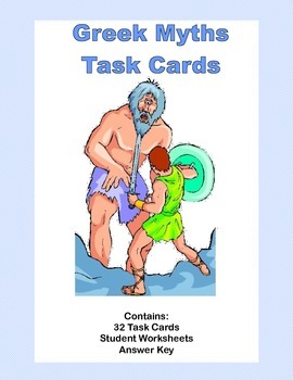 Greek Myth Task Cards Grades 4-7