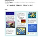 Greek Mythology Odyssey Travel Brochure Project