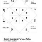 Greek Numbers Fortune Teller