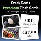 Greek Roots PowerPoint Flash Cards-Part 1