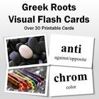 Greek Roots Visual Flash Cards-Part 1