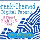 Greek-Themed Digital Papers (Background Patterns)