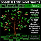 Greek and Latin Root Word Puzzles ~ Level Two