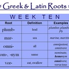 Greek and Latin Roots Curriculum 2 - A SECOND FULL YEAR!