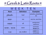 Greek and Latin Roots Curriculum -  FULL YEAR!