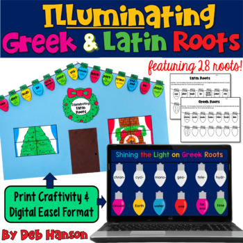 Greek and Latin Roots: Holiday Light Craftivity