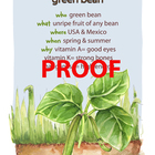 Green Bean Poster - Available in English and Spanish!