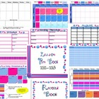 Green and Pink Plan Book with Stickies