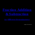 Greenebox Lecture-Fraction Addition-Part II