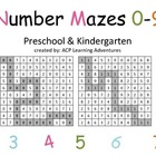 Grid Number Mazes 0-9