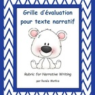 Grille d'évaluation pour texte narratif (Rubric for narrat