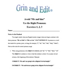 "Grin and Edit: Avoid ""Me and him,"" Use the Right Pronouns"