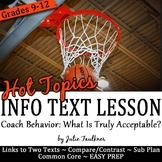 Informational Text Close Reading Hot Topics {Acceptable Co