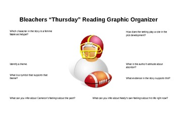 "Grisham's Bleachers ""Thursday"" chapter graphic organizer"